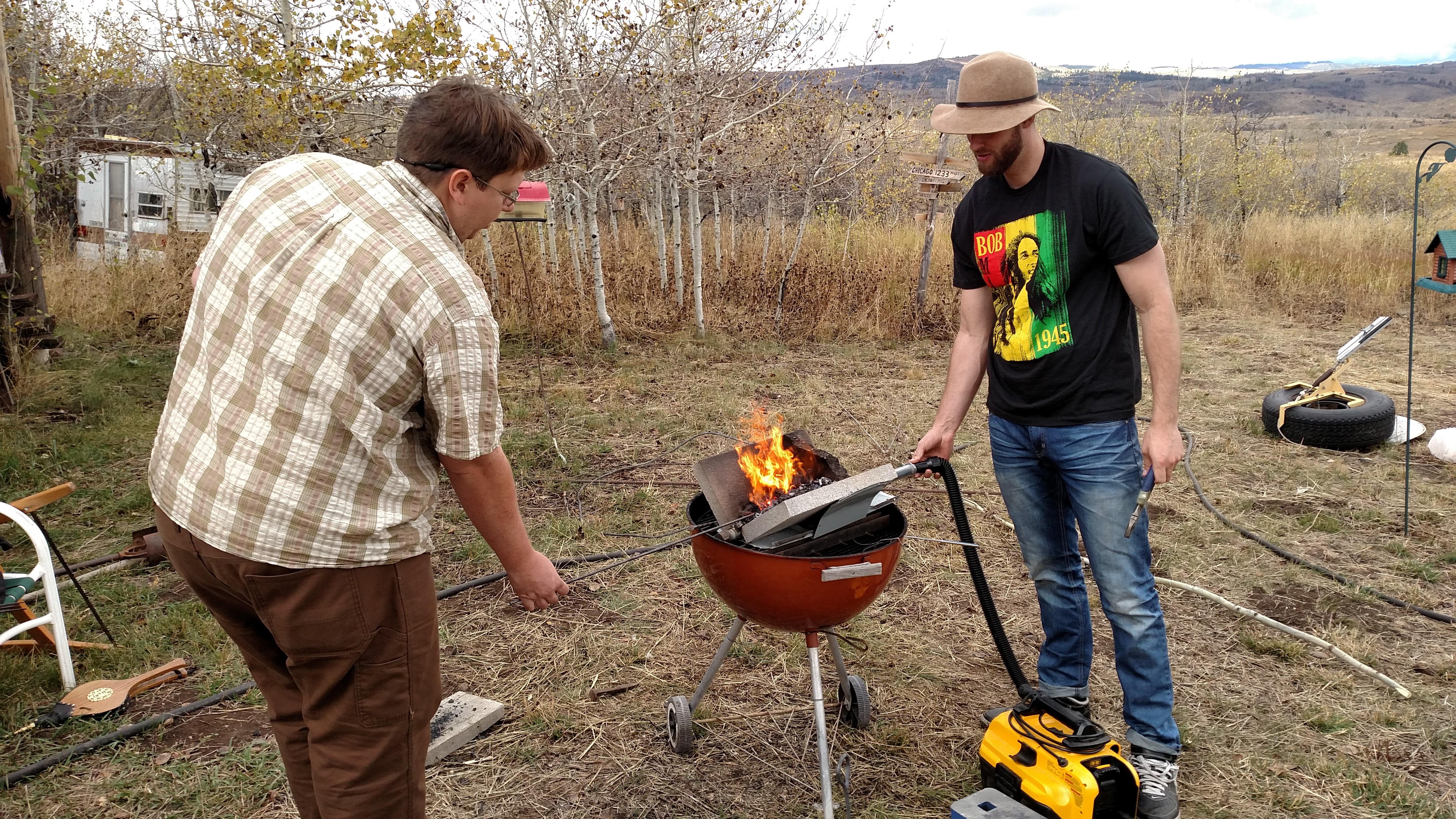 Backyard Forge backyard blacksmithing | mountain man living